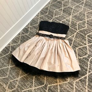 🥂 Alice + Olivia party dress black lace tulle